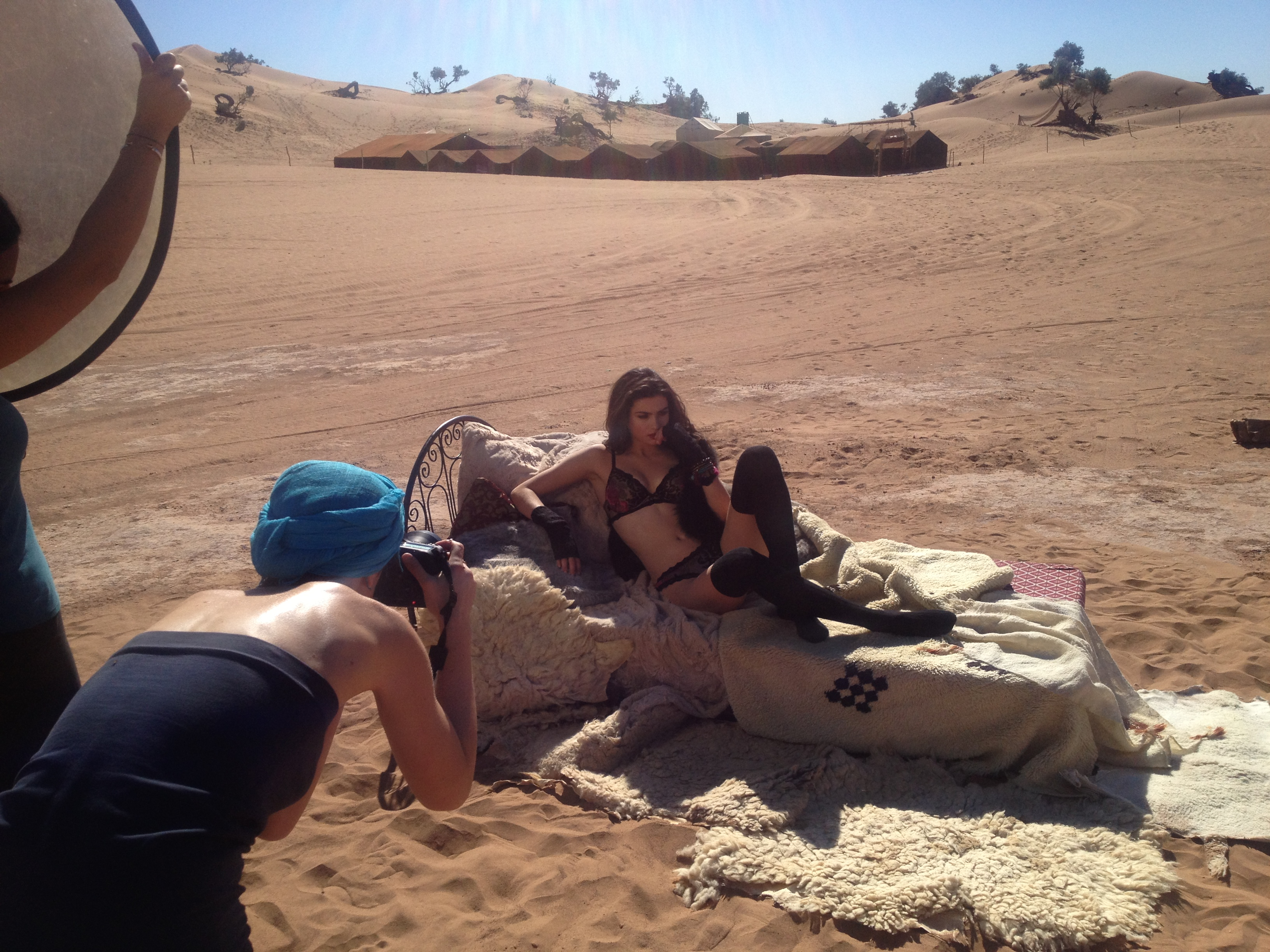 Backstage shooting Suggest bodywear collection Hiver 2013